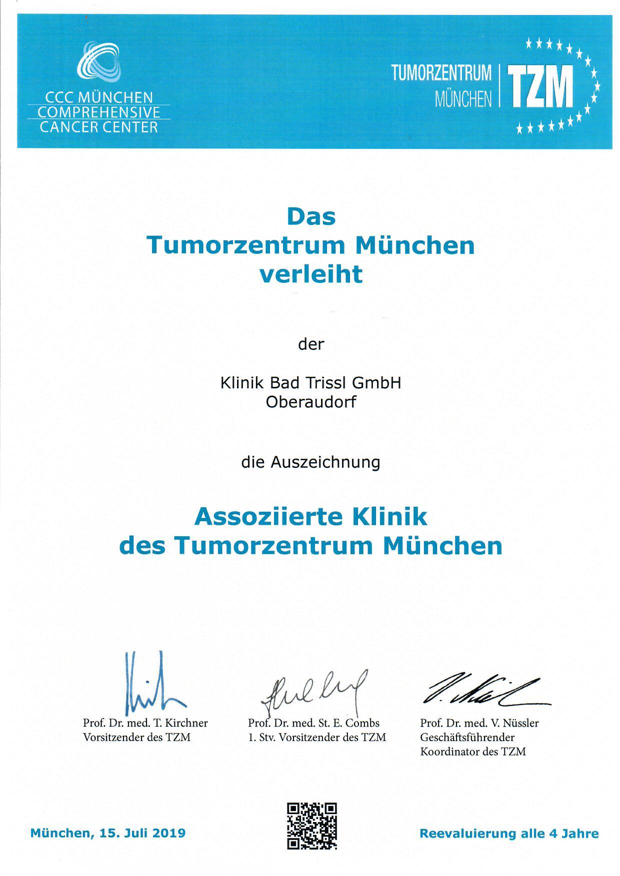 Zertifikat - Tumorzentrum München